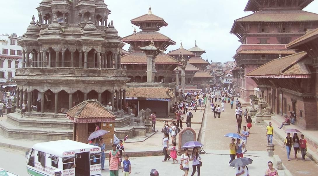 ネパールの首都カトマンズ